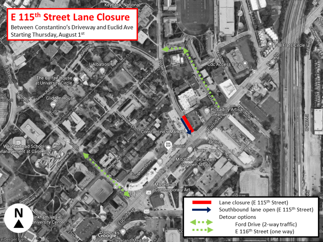 E. 115th Street Lane Closure