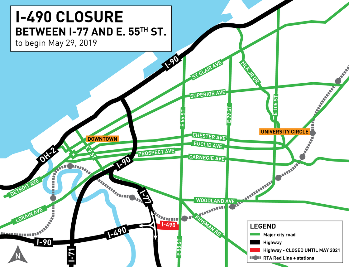 I-490 Planned Closure