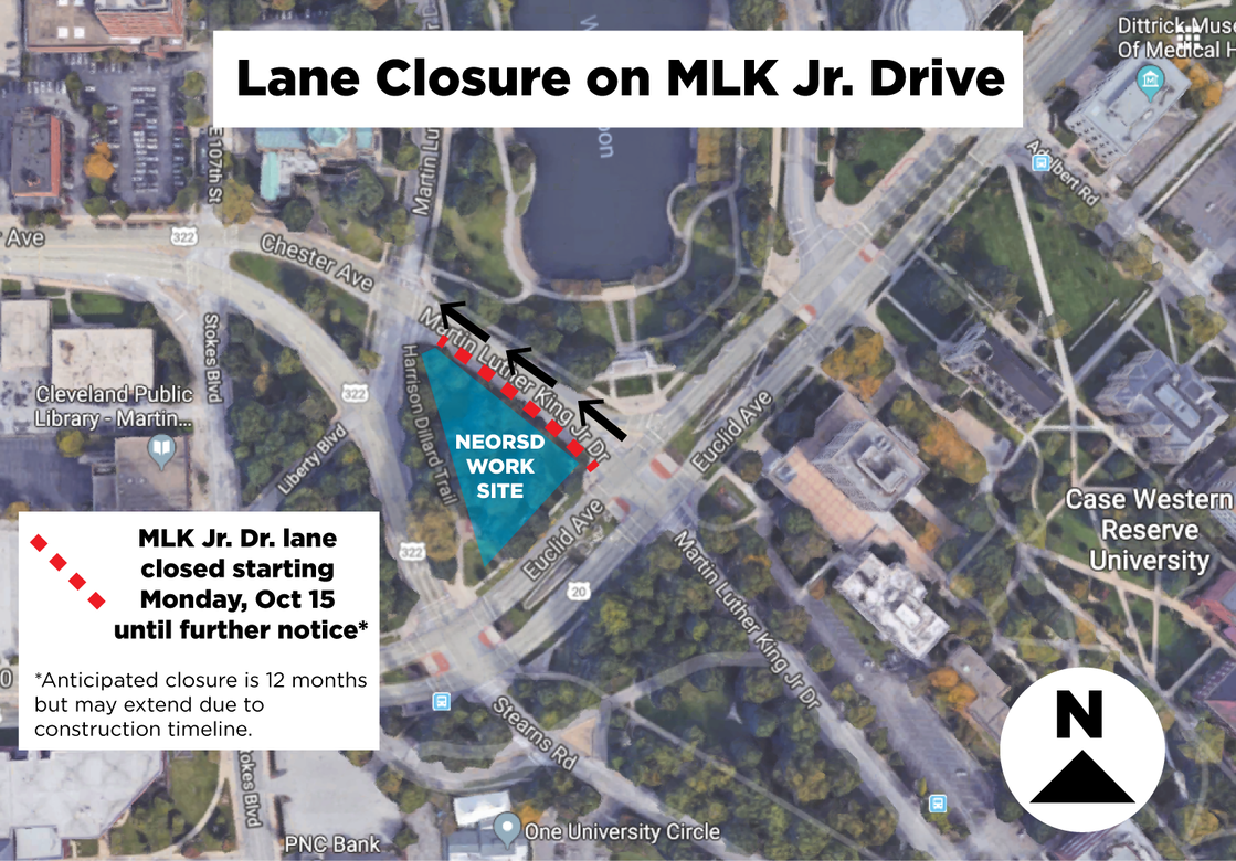 Lane Closure on Martin Luther King Jr. Drive