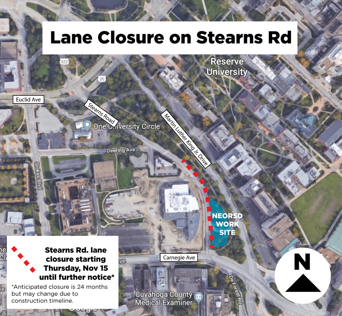 Lane Closure on Stearns Rd