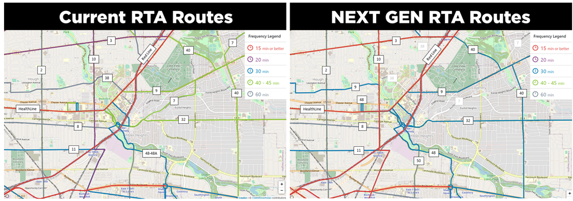 Upcoming Changes to RTA Bus Routes with NEXT GEN RTA